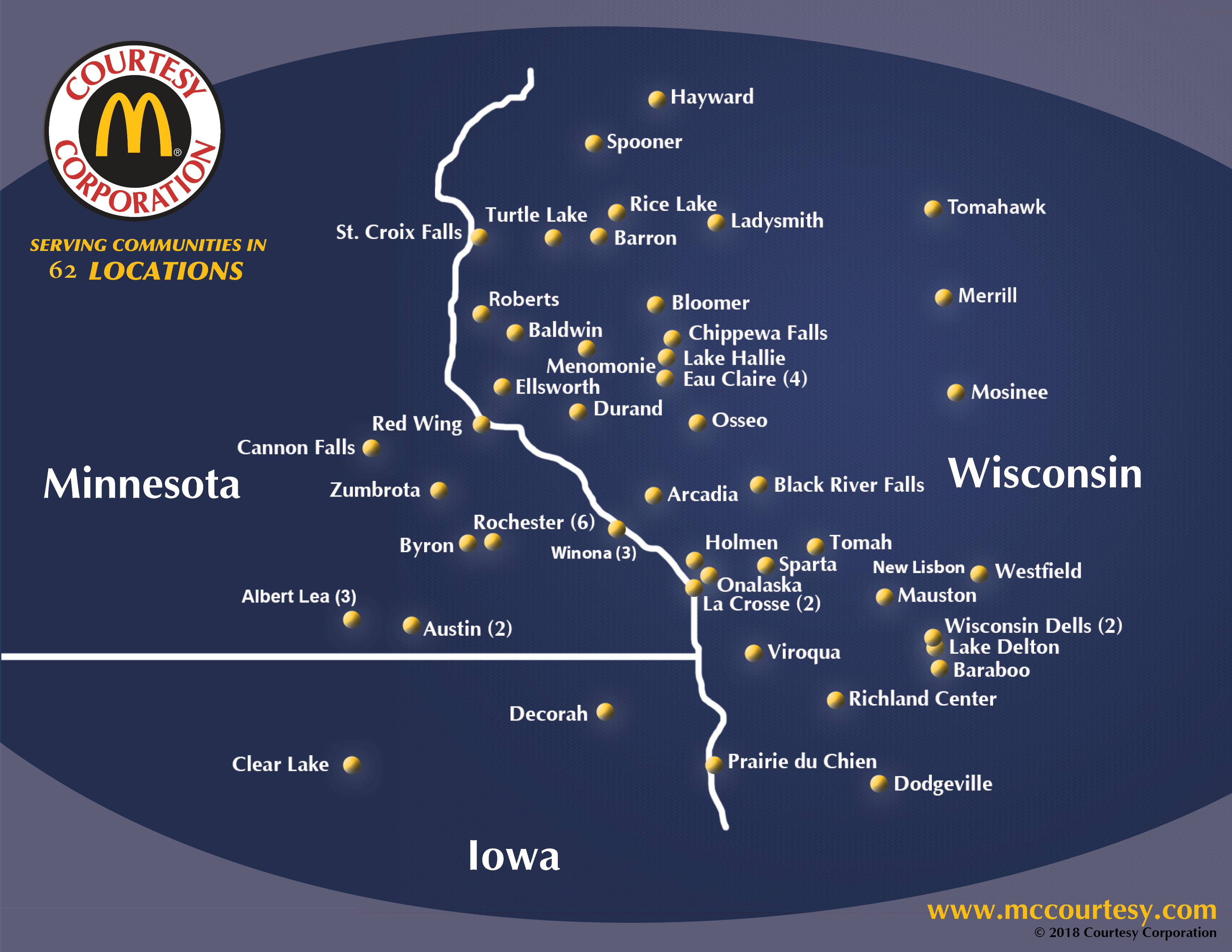 Courtesy Corporation McDonald's Restaurant Locations